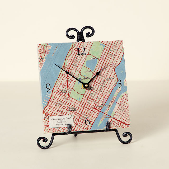 Personalized Map Clock