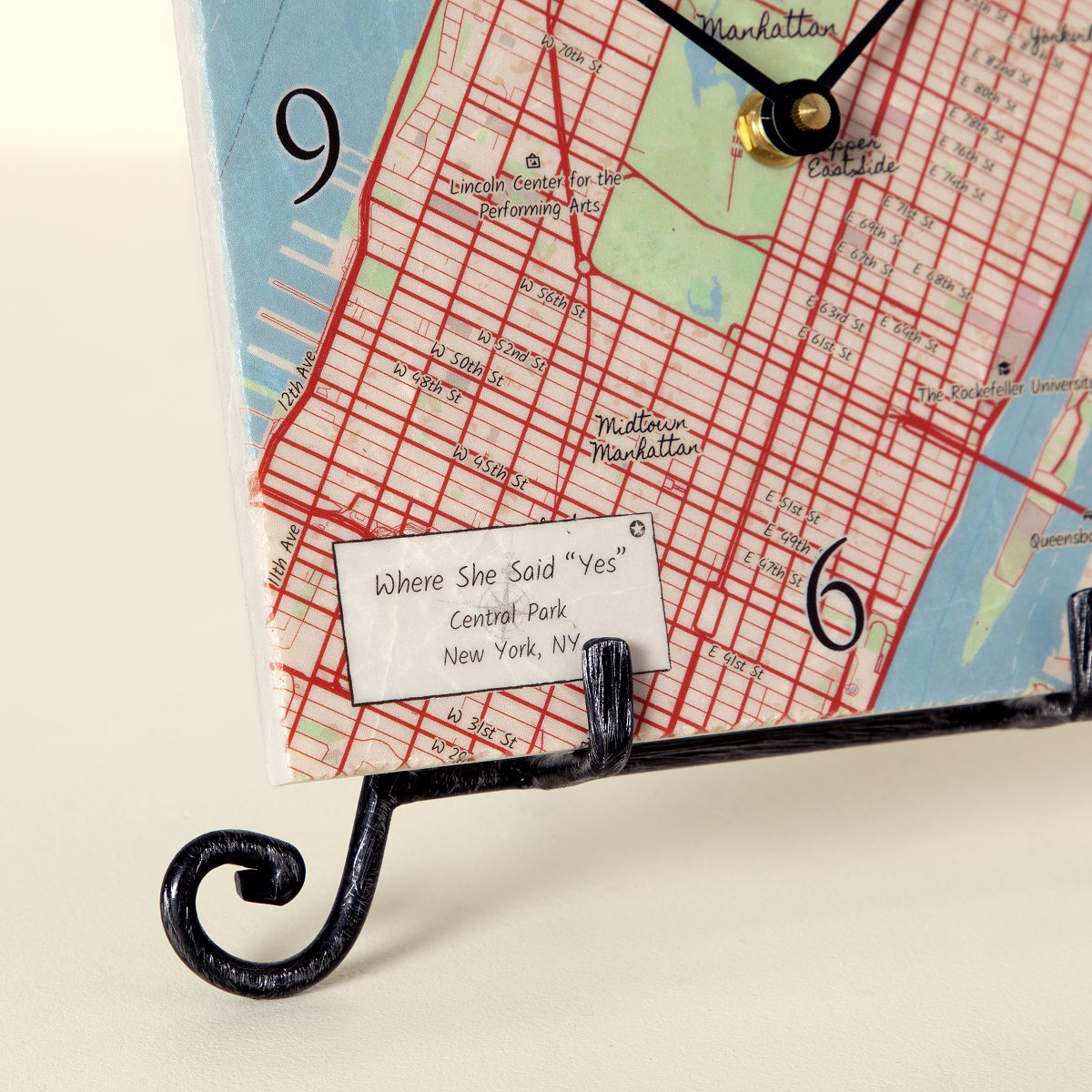 Personalized map clock custom clock uncommongoods personalized map clock 2 thumbnail gumiabroncs Gallery