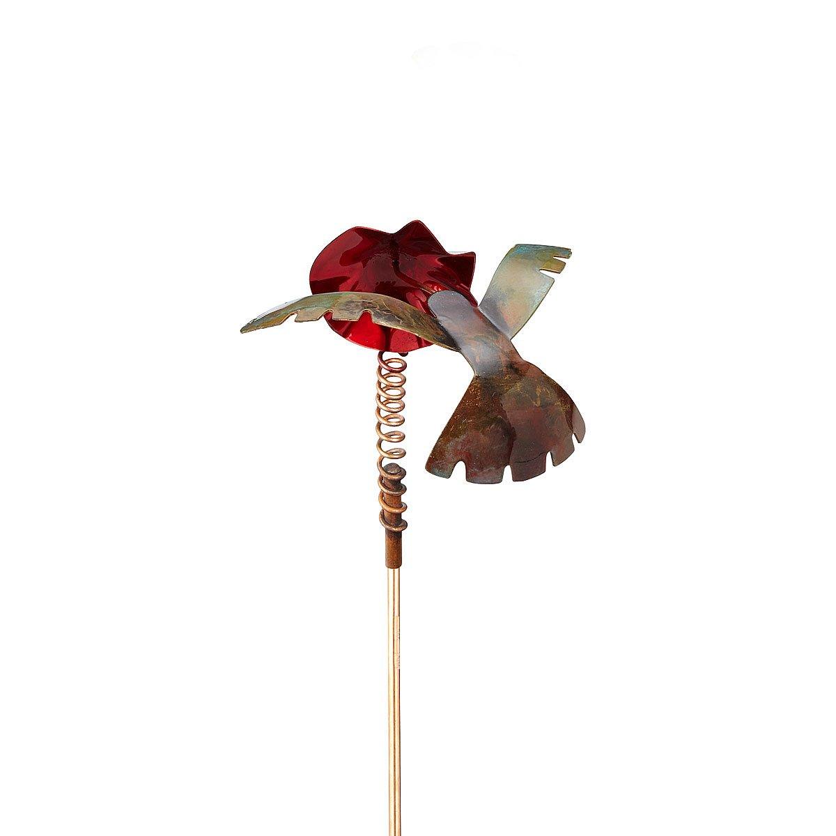 copper hummingbird stake | garden decoration | uncommongoods