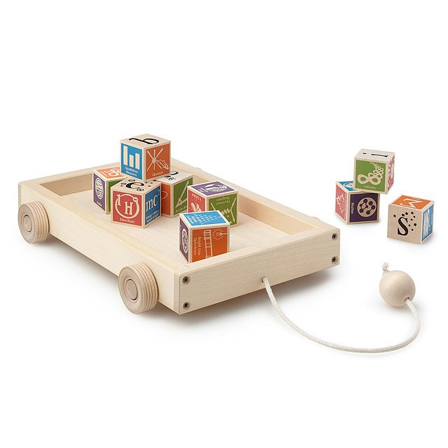 Wooden Block Wagon