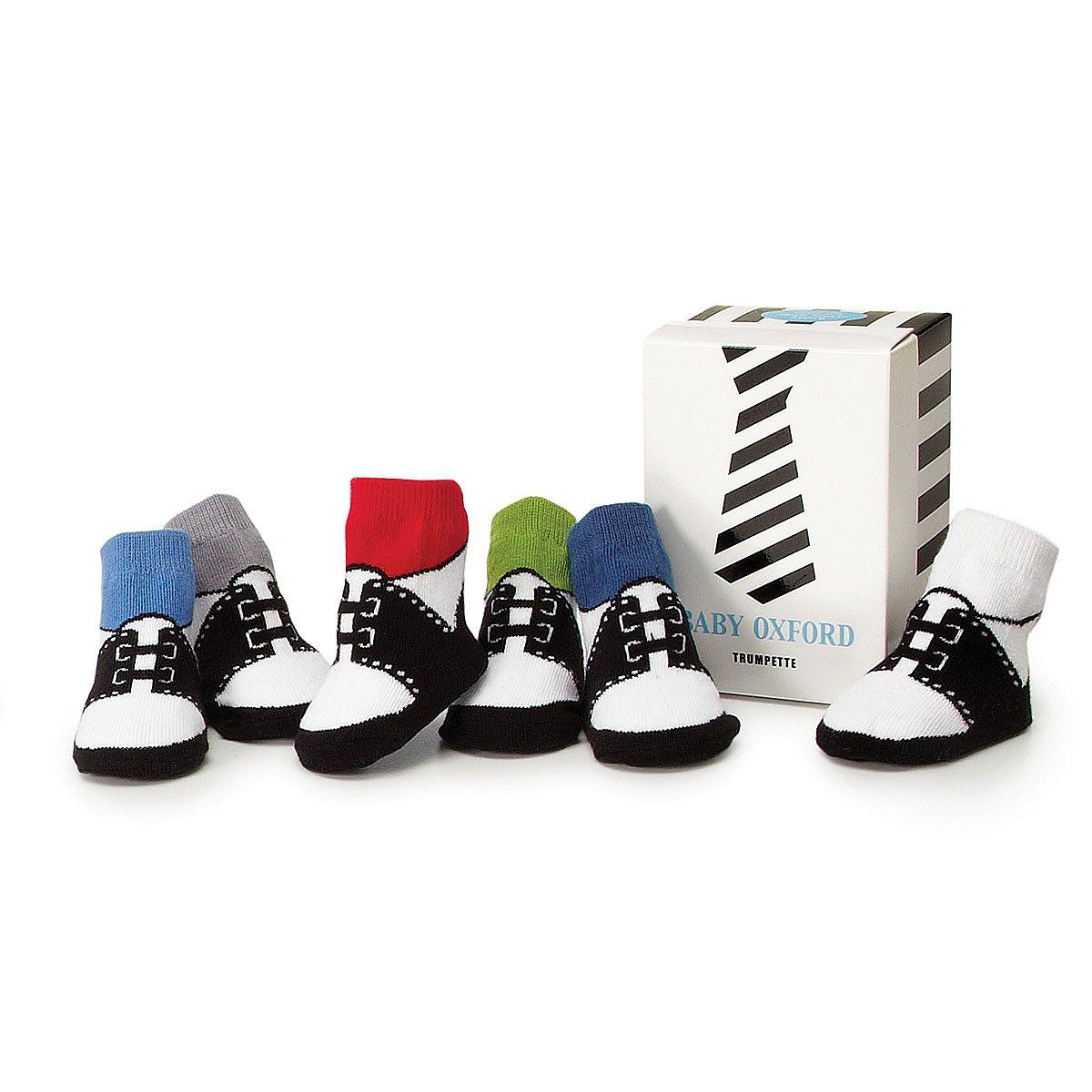 Baby Boy Oxford Socks - Set of 6 | Baby Shoe Socks | UncommonGoods