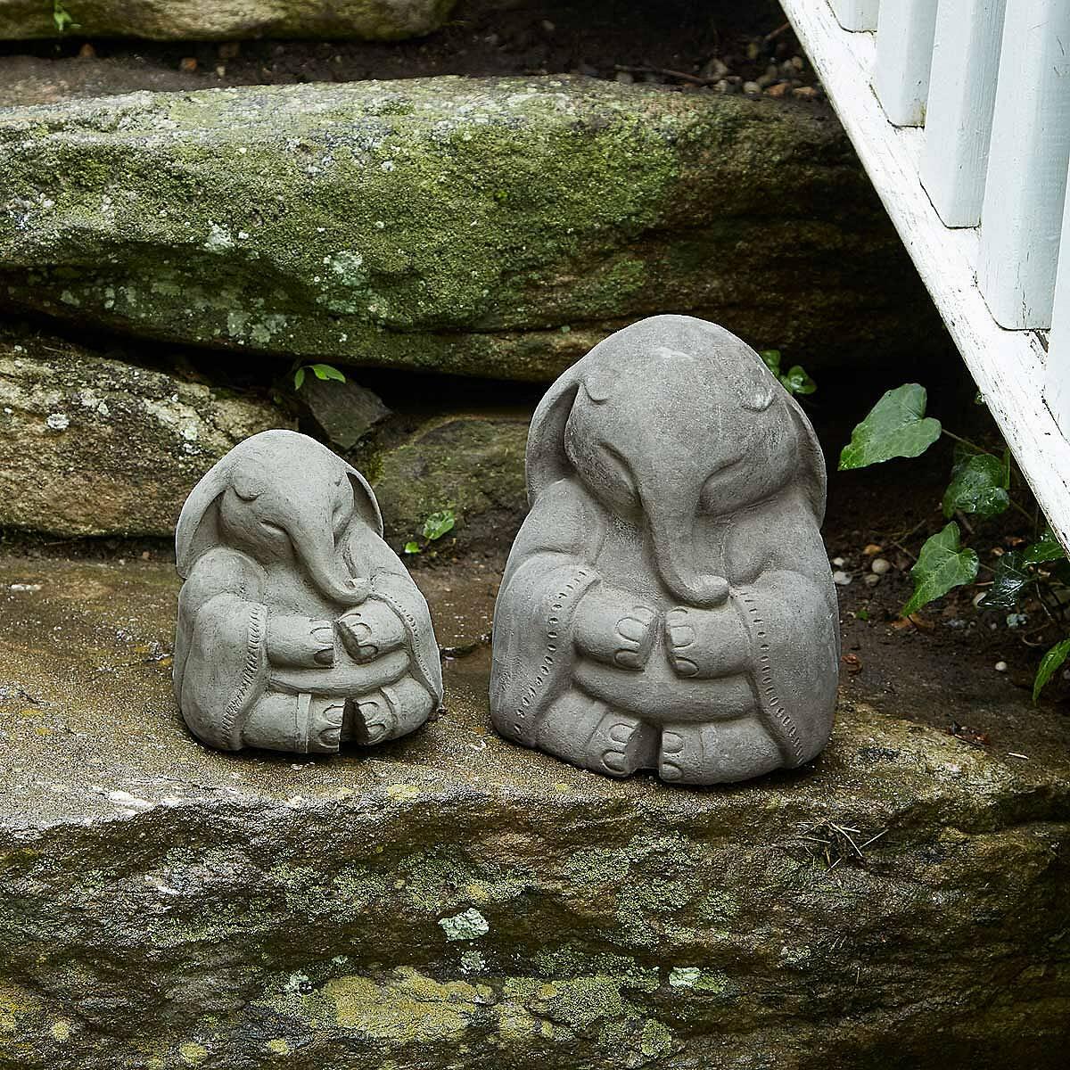Delightful Zen Elephant Garden Sculpture 2 Thumbnail