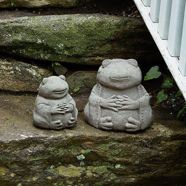 禅蛙花园雕塑
