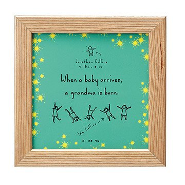 Personalized A Grandma Is Born Tile