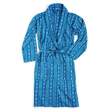 Blue Ikat Men's Robe