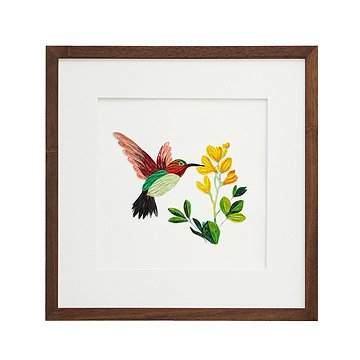 Hummingbird Quilled Paper Art