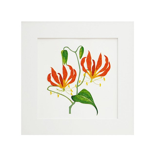 Tiger Lily Quilled Paper Art