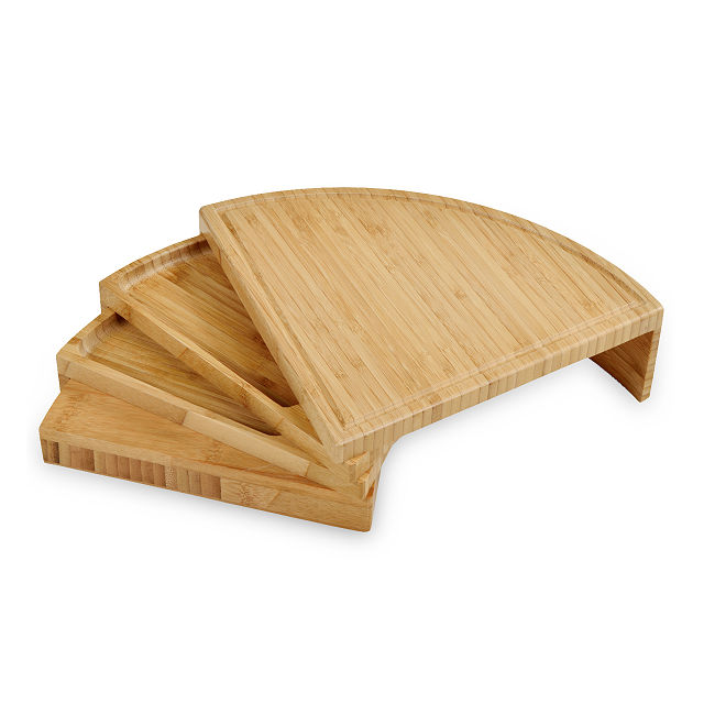 Compact Swivel Cheese Board with Knives