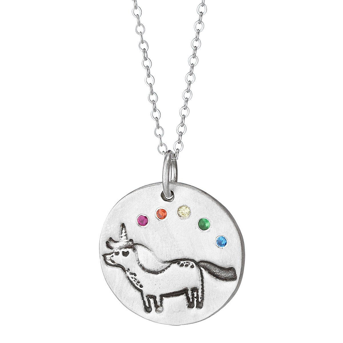 chickadee products rainbow length full necklace hey pusheenicorn