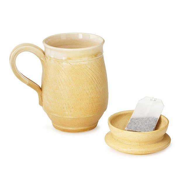 Mug with Tea Bag Holding Lid