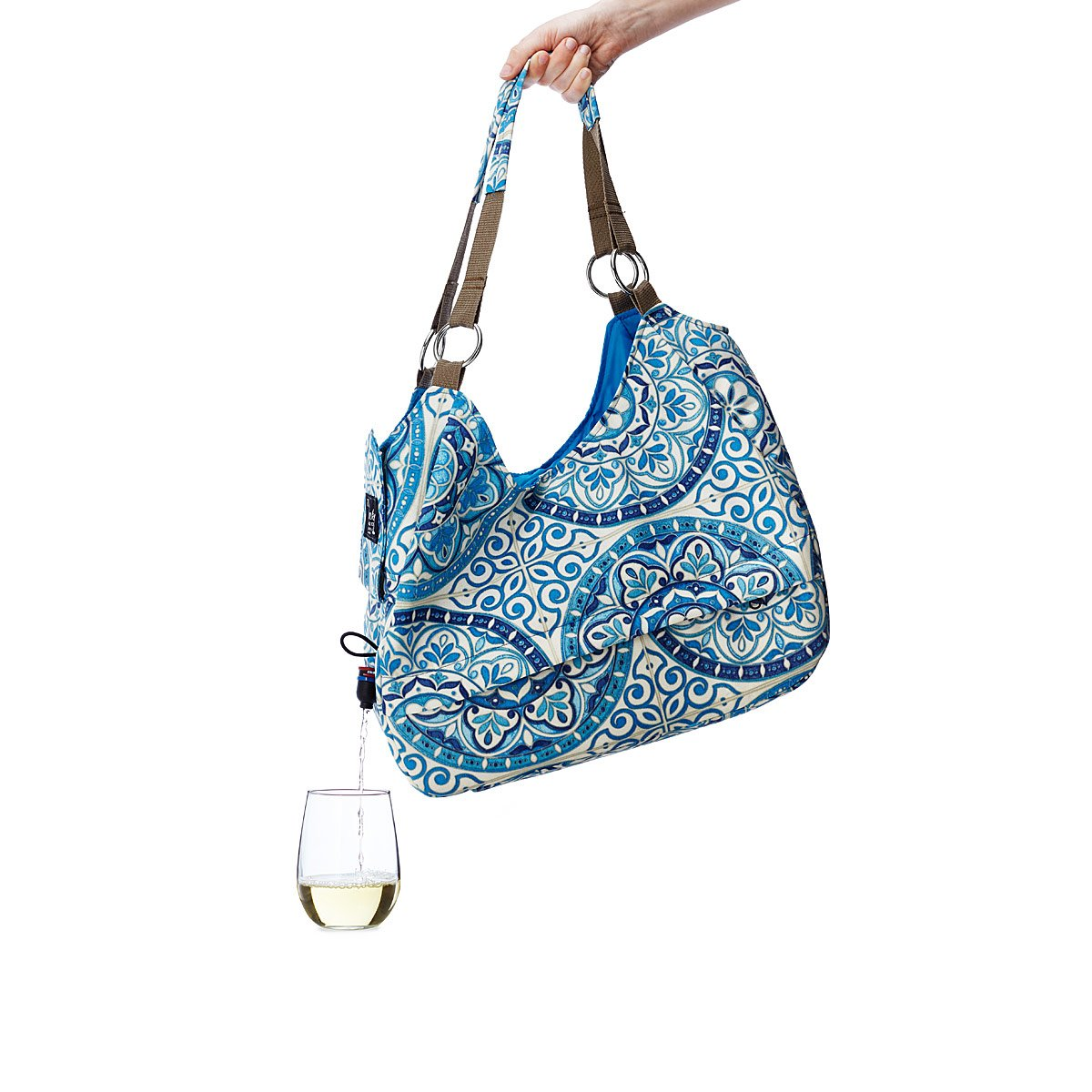 Wine & Beverage Dispensing Tote | wine bag, boxed wine | UncommonGoods