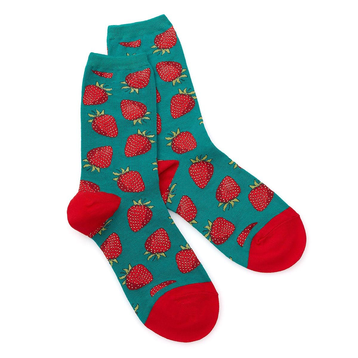 Women\'s Strawberry Socks | womens socks, foodie accessories ...