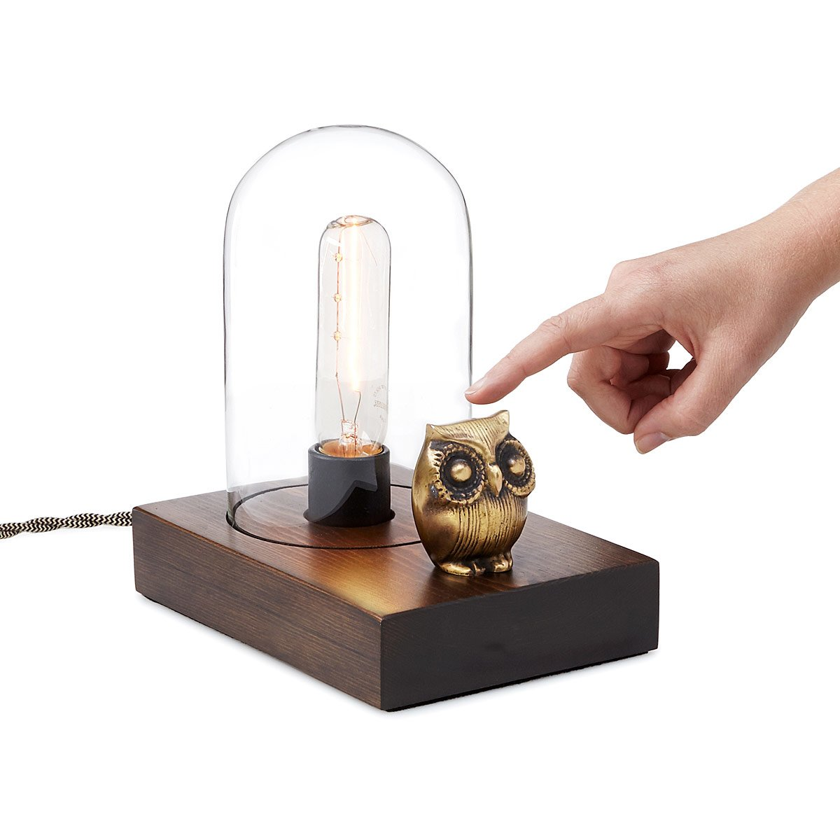 Vintage owl lamps - Mr Owl Touch Lamp 2 Thumbnail