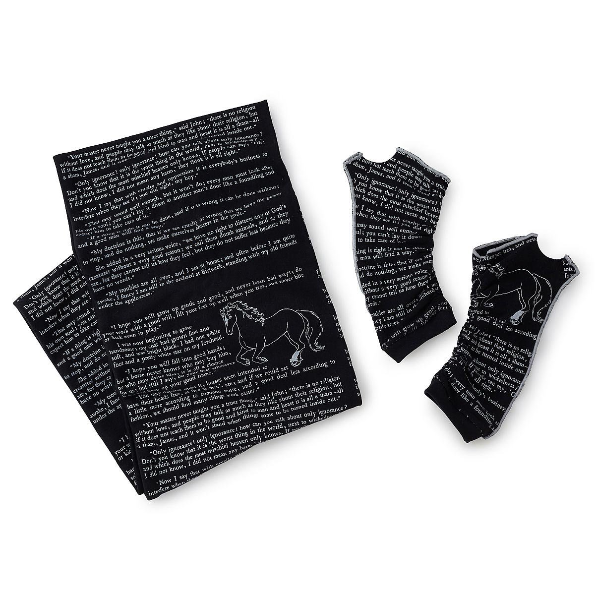 black beauty literary scarf and writing gloves long gloves black beauty literary scarf and writing gloves 3 thumbnail