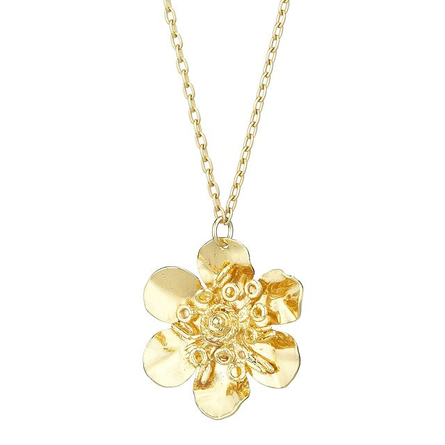 Gold Madytos Flower Pendant