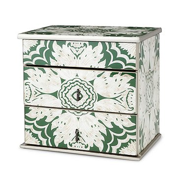Reverse Hand Painted Mirror Jewelry Box