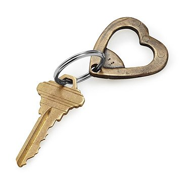 Bronze Heart Bottle Opener Keychain