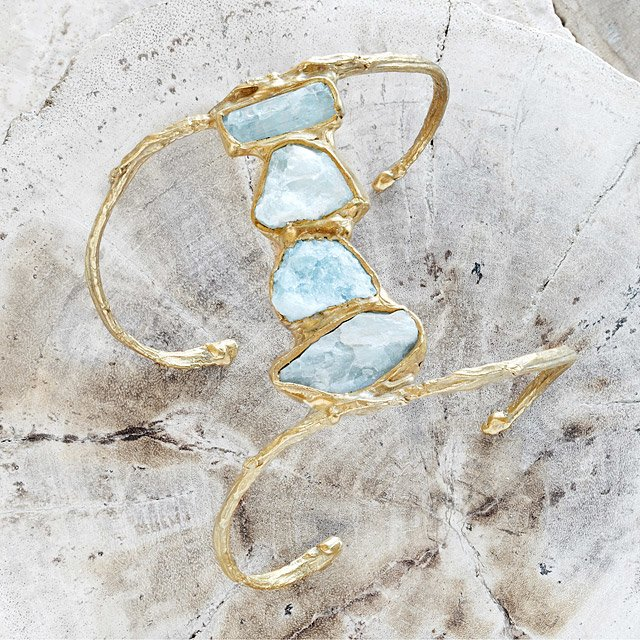 Aquamarine Ebb and Flow Cuff