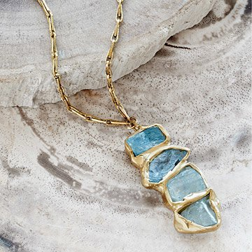 Aquamarine Ebb and Flow Pendant