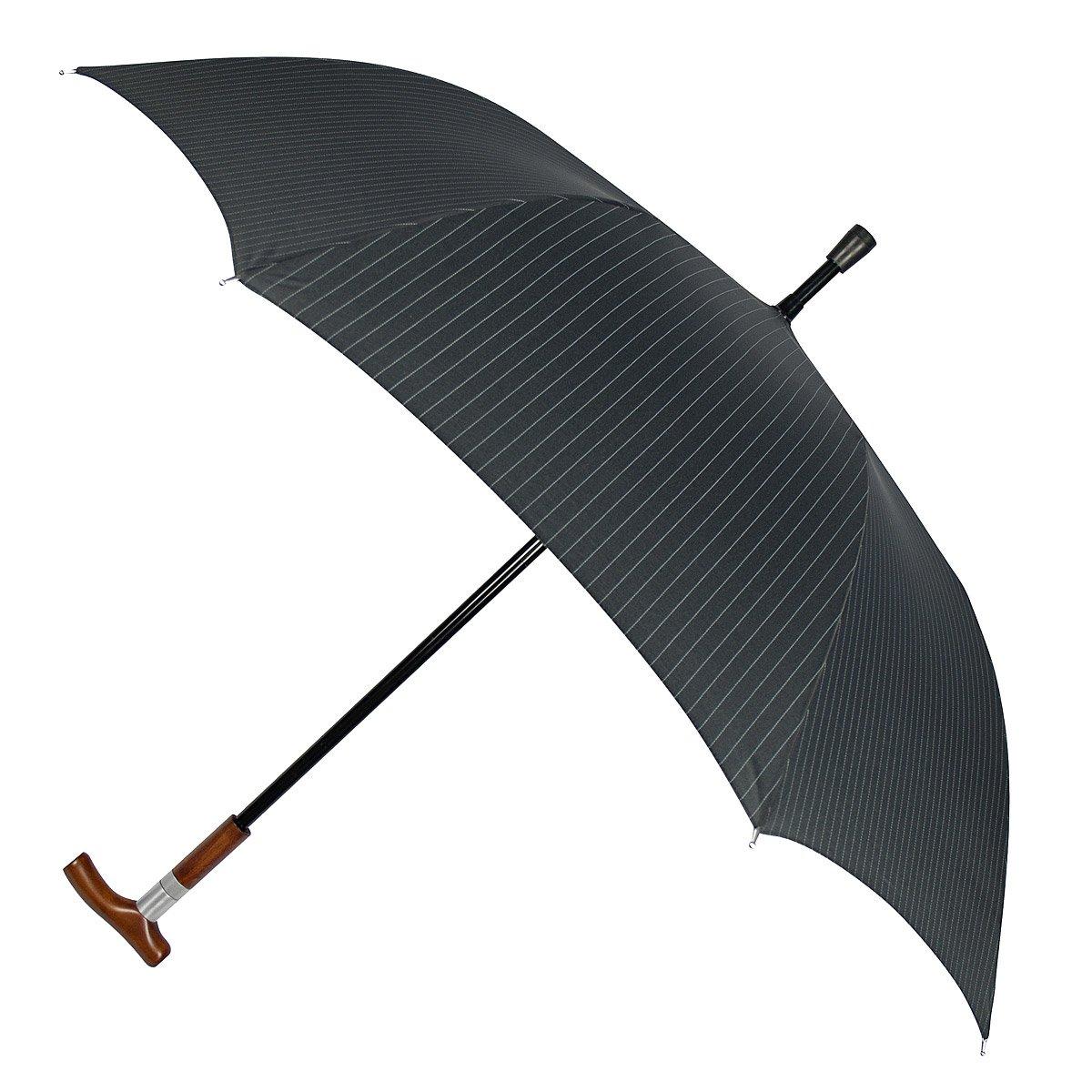da32ced6416df Pin-Stripe Gentleman's Hidden Cane Umbrella | walking stick umbrella ...