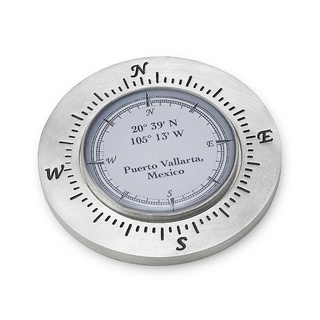 Custom Latitude Longitude Paperweight