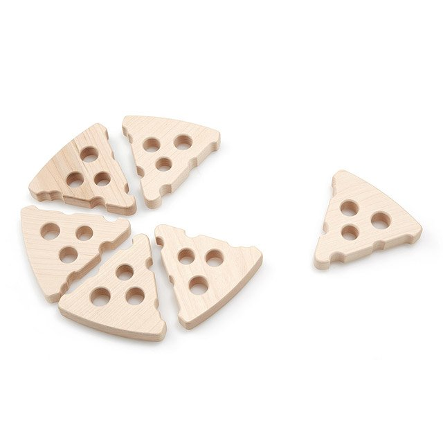 Wooden Pizza Slice Teether