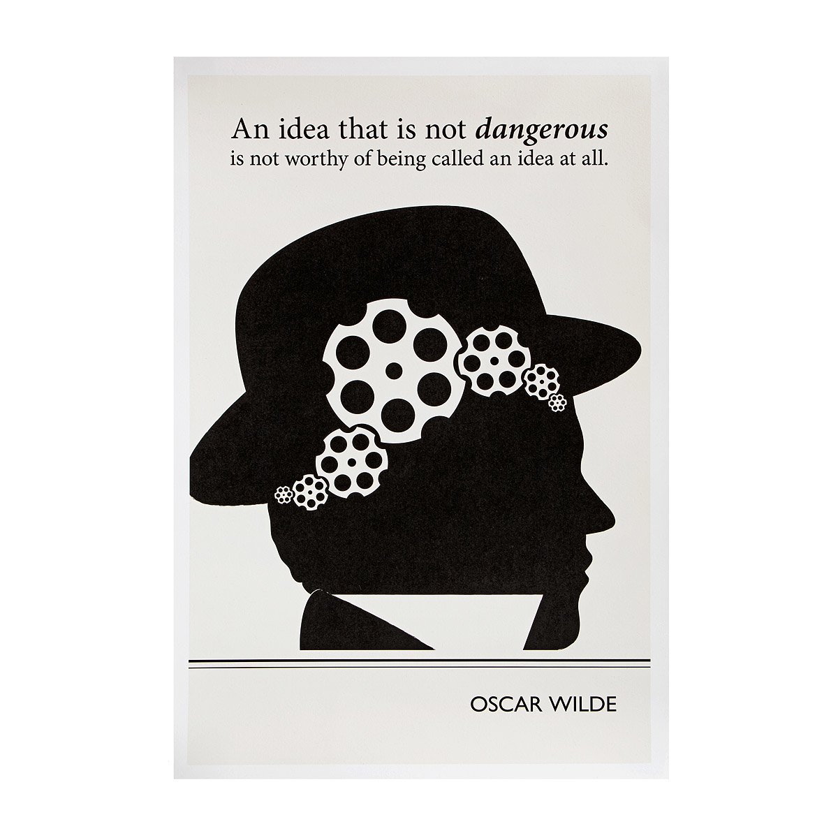 Wilde Literary Poster | Oscar Wilde quote | UncommonGoods