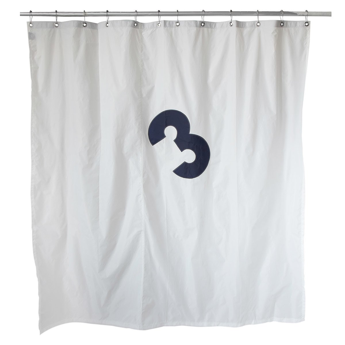 recycled sailcloth shower curtain | sail cloth, crab shower