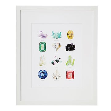 Gem and Mineral Collection Print