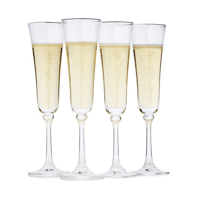 constant sparkling champagne flutes set of 4 champagne flutes