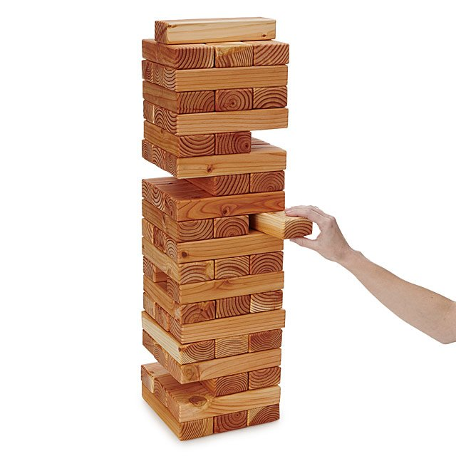 Bricks Yard Game Stacking Game UncommonGoods Beauteous Wooden Bricks Game