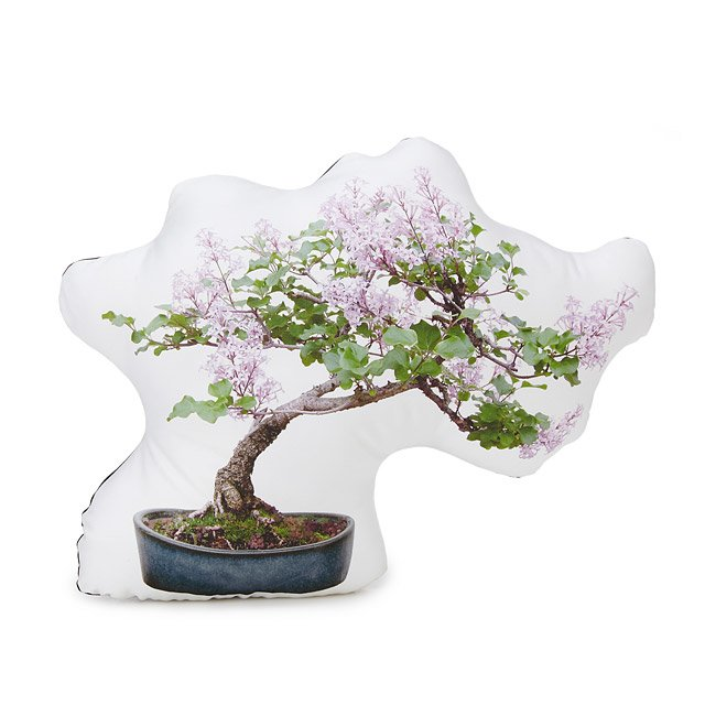 Lilac Bonsai Tree Pillow