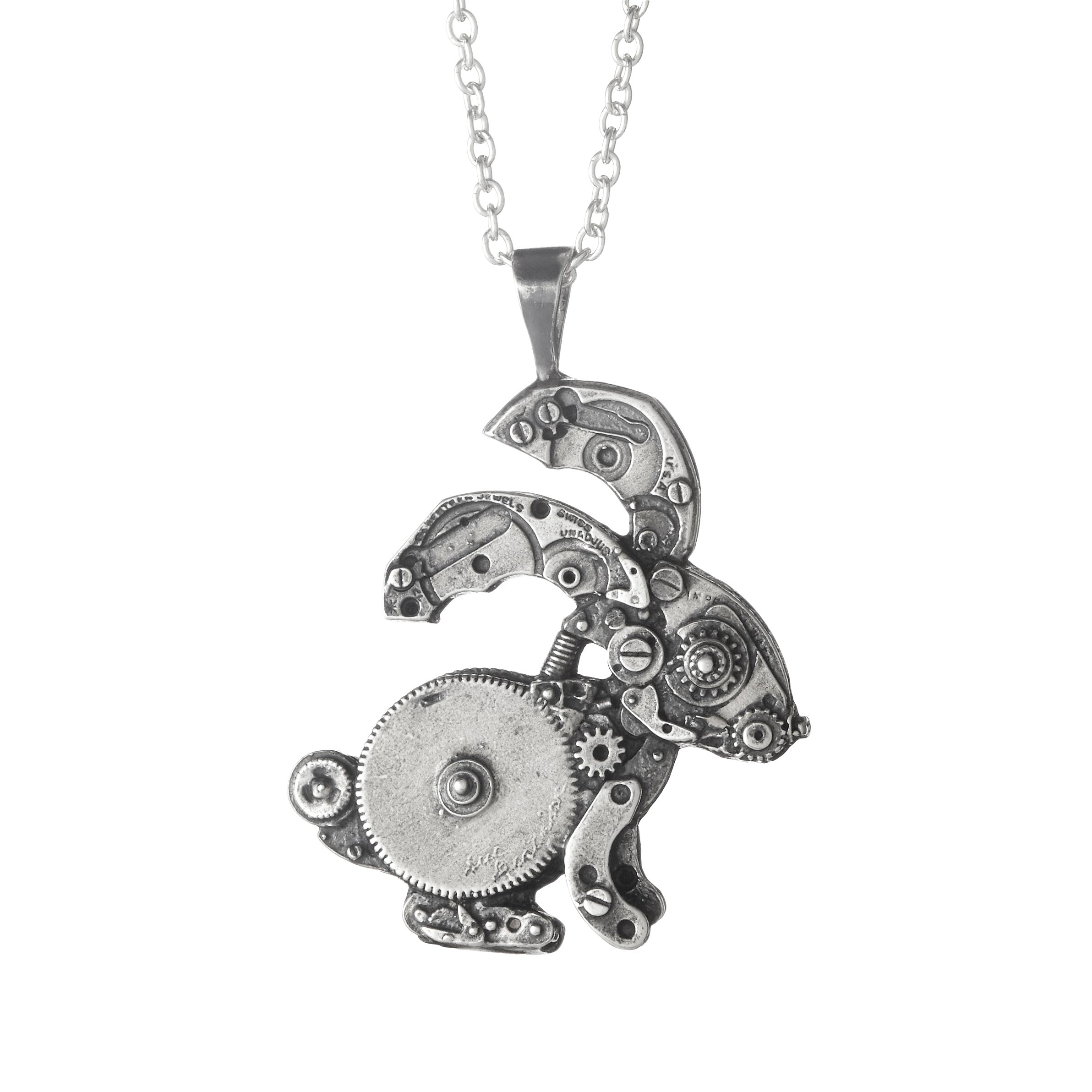 Wonderland Bunny Necklace | watch parts | UncommonGoods