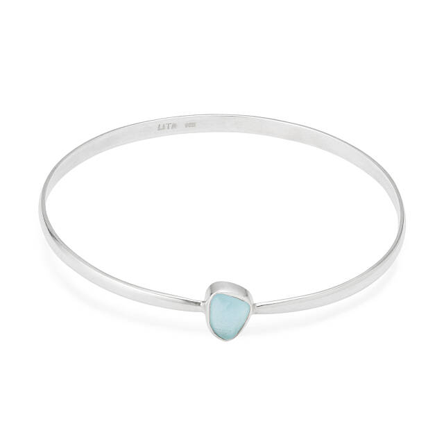 Sea Glass Bangle Bracelet