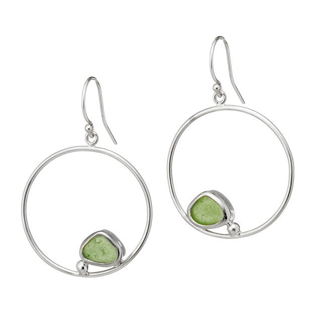 Circle of Life Sea Glass Earrings