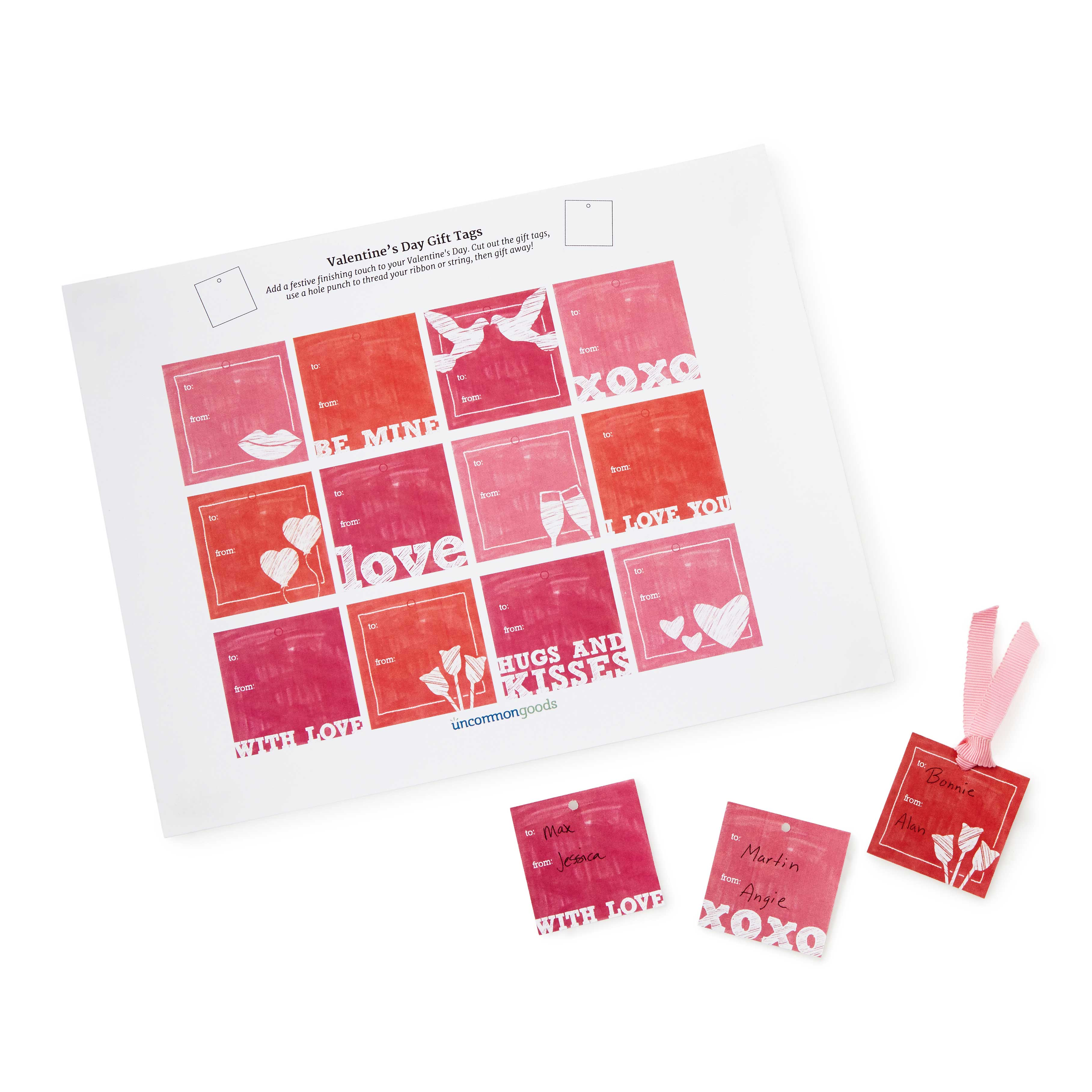 Printable Valentine\'s Day Gift Tags | free valentines day card ...