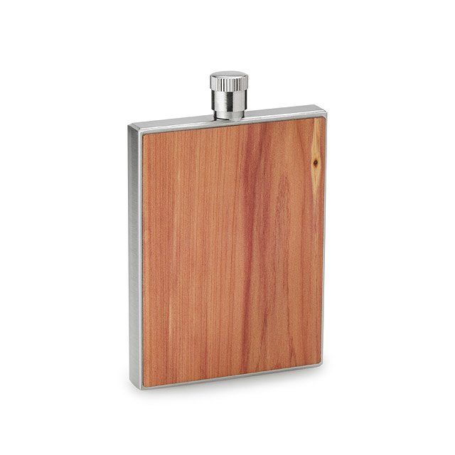 Cedar Wood Flask with Funnel