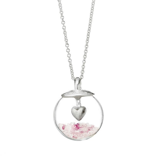 Glass Globe of Love Necklace