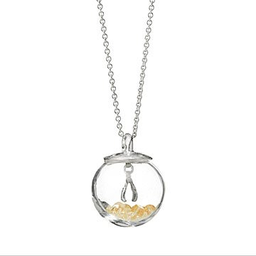 Glass Globe of Luck Necklace