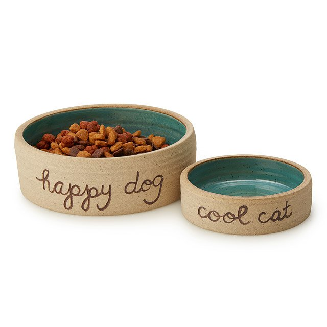 Handmade Ceramic Pet Bowls Food Dishes Dog Cat