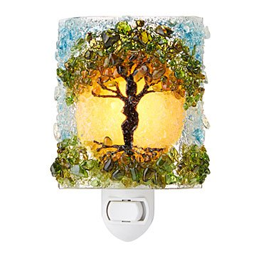 Recycled Glass Tree of Life Nightlight