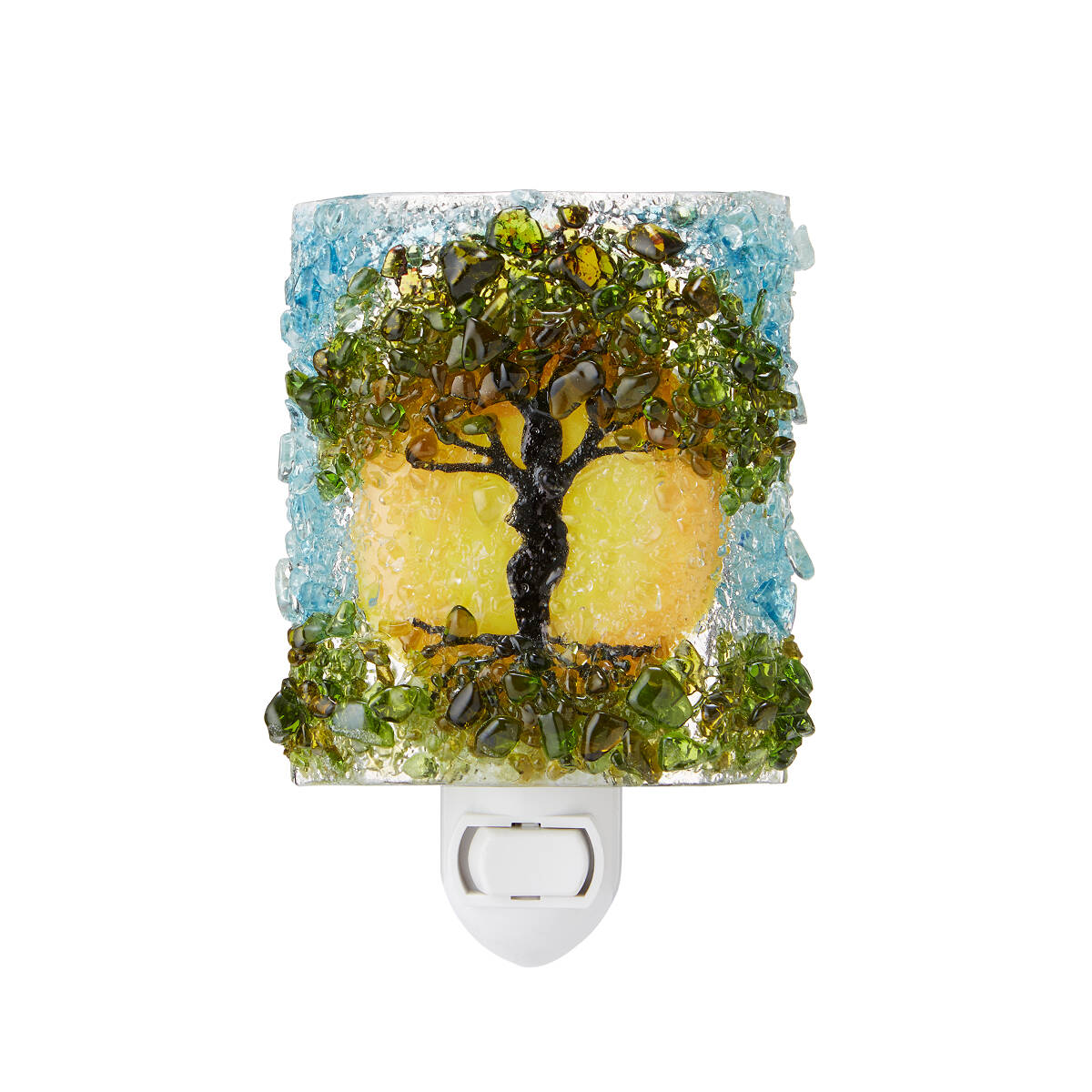 Recycled Glass Tree of Life Nightlight   tree light   UncommonGoods