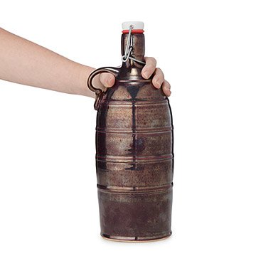 Metallic Stoneware Growler