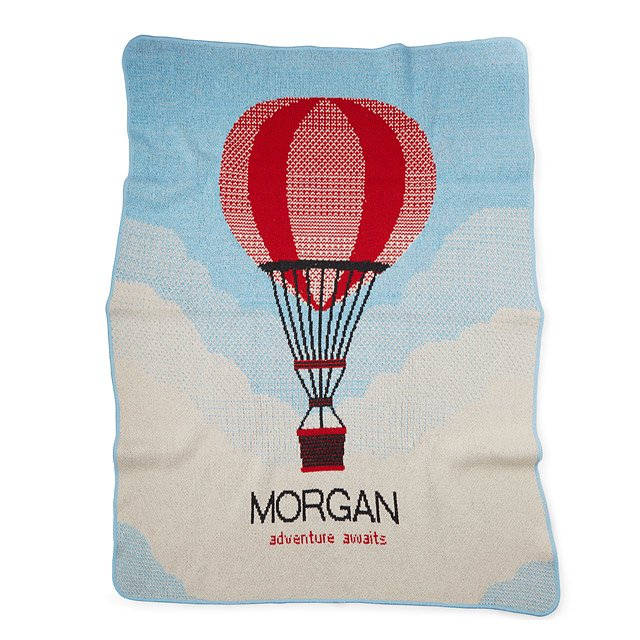 Personalized Hot Air Balloon Throw