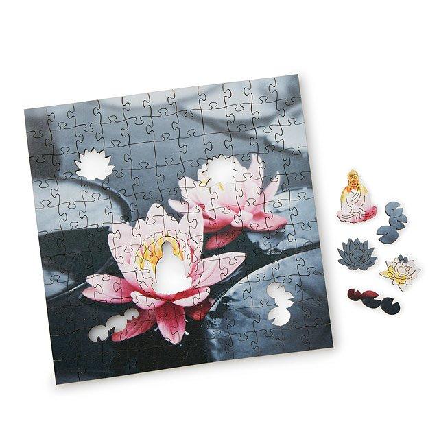 Zen Lotus Wooden Heirloom Puzzle Handmade Puzzle Wood Jigsaw