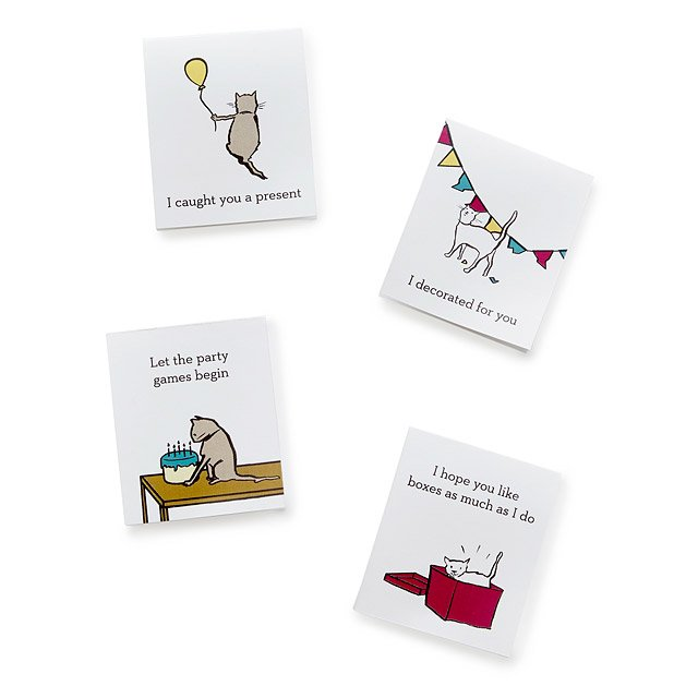 graphic regarding Cat Birthday Card Printable identified as Printable Cat Tao Birthday Playing cards downloadable playing cards