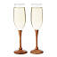 Wood Stem Wine Glasses - Set of 2 2 thumbnail