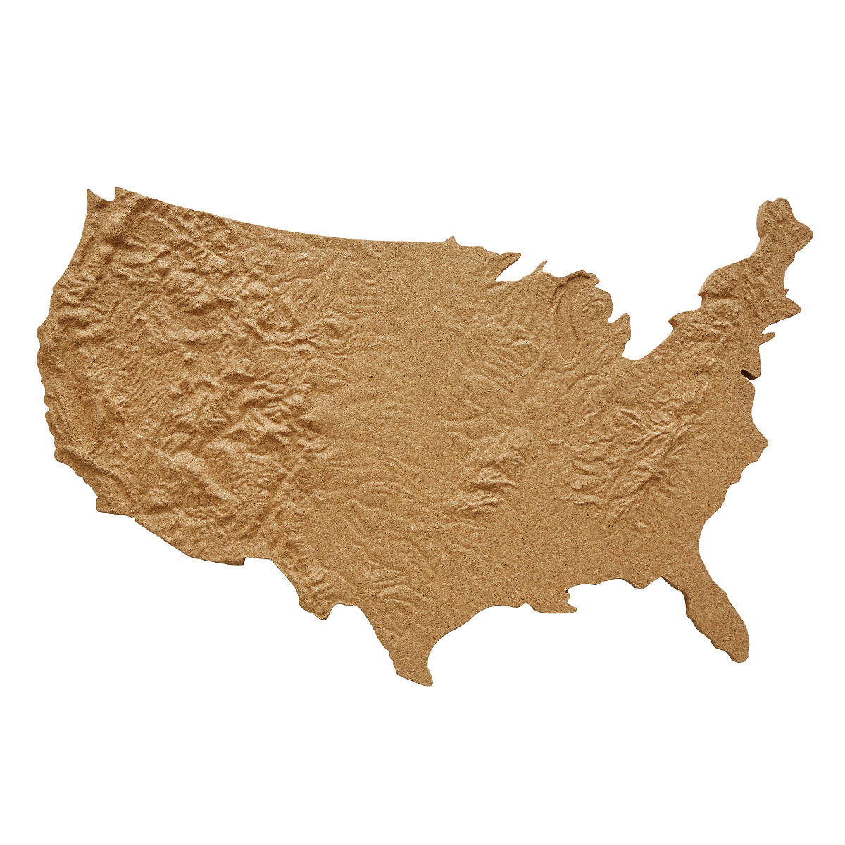 Places In America Map Artwork Illustration Typography Travel - Map of the united states cork board