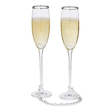 linked for life champagne flutes set of 2