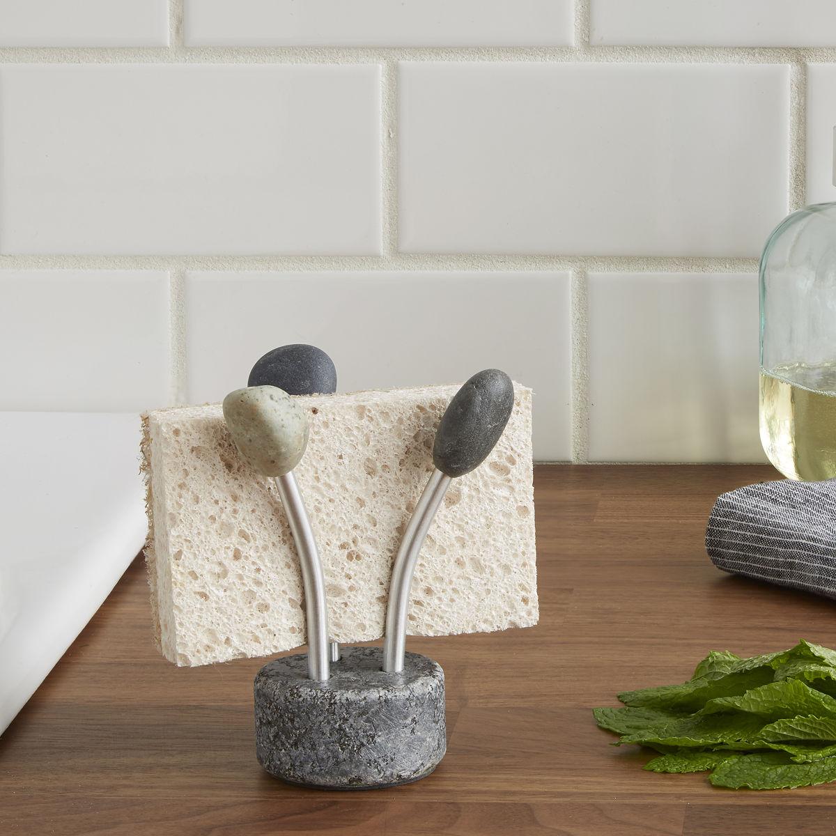 Ine design stone 187 other products - Sea Stone Splash Sponge Holder 3 Thumbnail